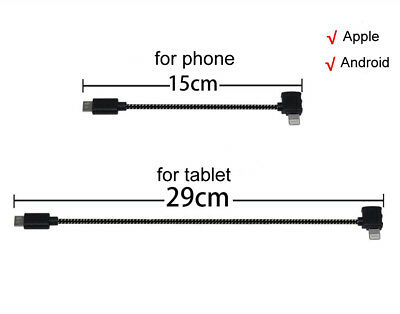 AU7.23 • Buy Micro USB OTG Cable + USB Cable IPhone Andriod Type-C For DJI Spark Transmitt