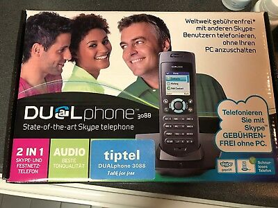 Dual Phone State Of The Art Skype Phone Cordless 3088 Tiptel !!!! • 21.50£