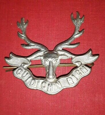 Seaforth Gordons And Camerons Highlanders Military Cap Badge With Pin • 14.99£