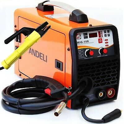 160amp Mig/mag/flux/lift Tig/mma 5 In 1 Dc Inverter Welder Machine Gas Gasless • 189.99£