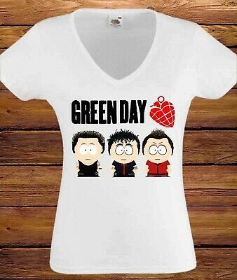 Green Day Cartoon WOMEN T-shirt Ladies Shirt Lady Clothes T-shirt For Girls  • 8.95£