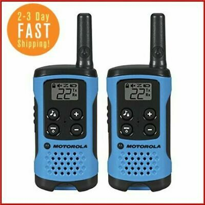 $ CDN1303.12 • Buy Motorola LONG Range Police Two Way Radio Walkie Talkie Set 16 Mile 2 Pack BLUE