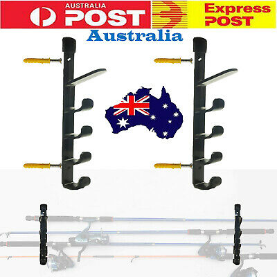 AU19.44 • Buy Fishing Rod Rack Pool Cue Holder 5 Items Fish Gear Storage Organiser AUSTRALIA