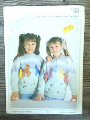 Wendy Knit Pattern: Child's My Little Pony Sweater Cardigan, DK, 26-30 , 2823    • 2.82£