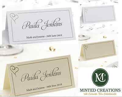 £20 • Buy Personalised Contemporary Wedding Place Name / Setting / Table / Meal Cards
