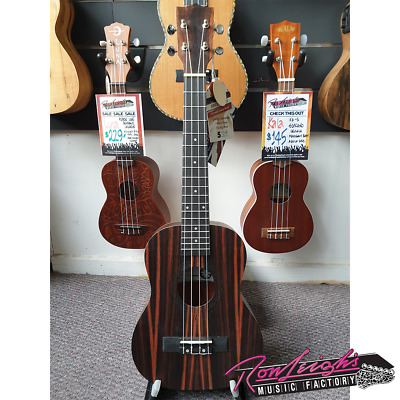 AU169 • Buy Tanglewood TUT19B Tiare Series Figured Ebony Tenor Ukulele With Padded Bag