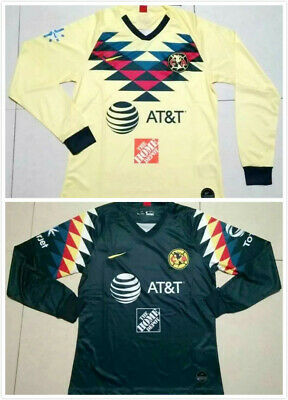 New 2019-2020 Club America Home/Away Soccer Jersey Long Sleeve T Shirt Men S-XXL • 17.50$