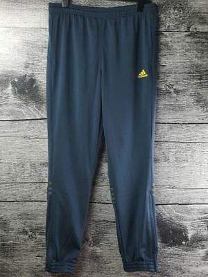$ CDN35 • Buy Adidas Men's Athelic Pants Sz M Navy Blue Yellow Logo Jogging Running Outdoor