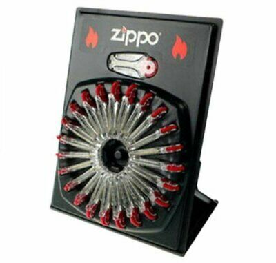 $16.67 • Buy 24 Zippo Dispensers (6 Flints Each), Wheel Display For Windproof Lighters #2406C