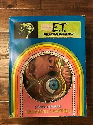 $75 • Buy 1982 (Collegeville)  E.T. THE EXTRA TERRESTRIAL  Halloween Costume & Mask, RARE!