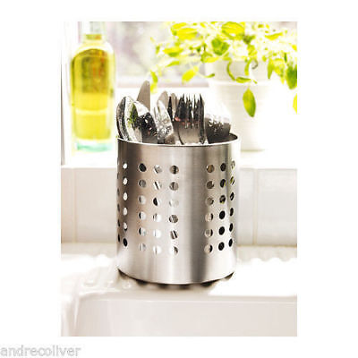 AU18.50 • Buy IKEA Cutlery Stand Stainless Steel Utensil Holder Organizer Storage Kitchen