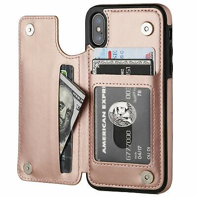 AU12.95 • Buy IPhone 11 Pro Max XR XS 8 Plus Case Shockproof Leather Card Holder Wallet Cover