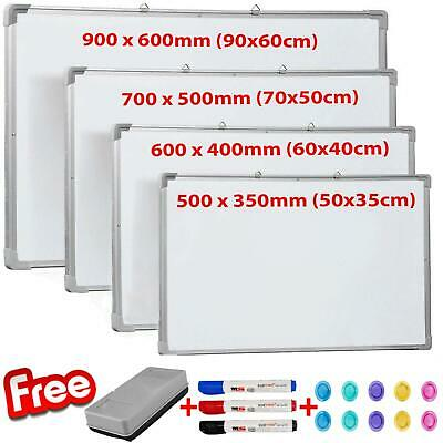 Magnetic Whiteboard Small Large White Board Dry Wipe Notice Office School Home • 24.95£
