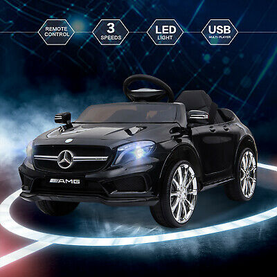 12V Kids Ride On Car Electric Licensed MERCEDES BENZ Remote Control Motors Black • 107.90£
