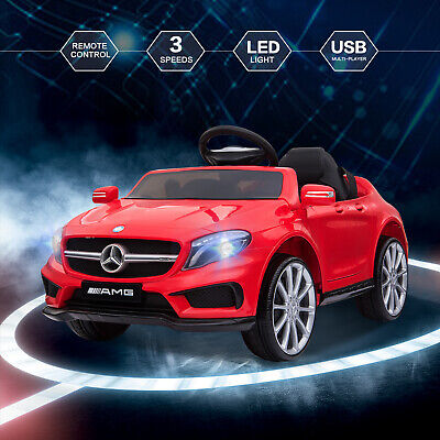 12V Kids Ride On Car Electric Licensed MERCEDES BENZ Remote Control Motors Red • 107.90£