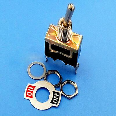 $ CDN1.30 • Buy Heavy Duty ON/OFF Small SPST Toggle Switch Miniature+Waterproof Cover 12V Black