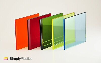£6.14 • Buy Perspex® Coloured Tinted Acrylic Plastic Sheet Panel / Cut To Size / 3mm & 5mm