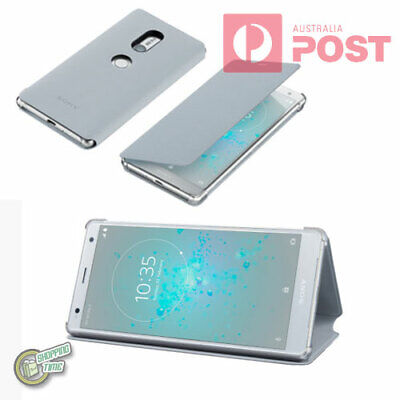 AU46.50 • Buy GREY GENUINE ORIGINAL SONY SCSH40 XPERIA XZ2 H8216 H8296 Style Cover Stand Case