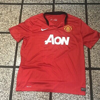 74eb4cea8 Authentic Nike Manchester United 2013/14 Home Soccer Jersey Adult Xl! Nice!  •