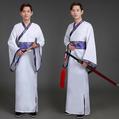 £25.23 • Buy Mens Chinese Ancient Hanfu Asian Traditional Clothing Dress Robe Gown Tang Retro