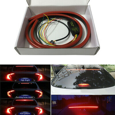 $24.12 • Buy Car Rear Windshield Red LED High Mount Brake Tail Light Sequential Strip 12V DC
