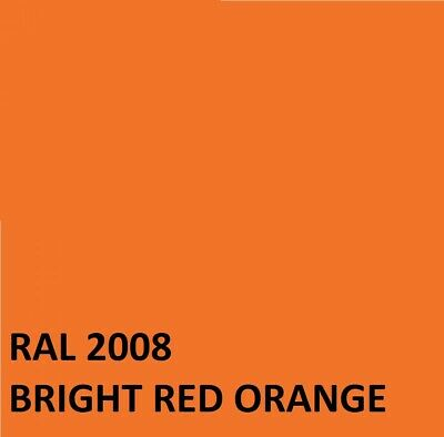 £16.45 • Buy RAL BRIGHT RED ORANGE  RAL2008 Agricultural Tractor Machinery Enamel Gloss Paint