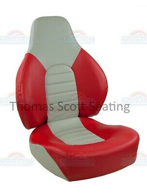 Boat Seat Helm Captain Fishing Chair Folding Springfield 1041635 RED/GREY • 146.40£