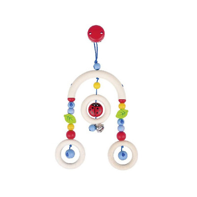 Heimess Wooden Clip On Wooden Baby Pram/Cot Toy Mini Trapeze Ladybird • 18.80£
