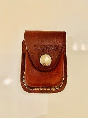 Zippo Lighter Pouch Case Brown Leather With Clip  • 6.98$