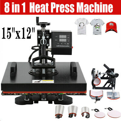 AU335.99 • Buy Ridgeyard 8in1 Heat Press Transfer Printing Machine T-Shirt Mug Hat Sublimation
