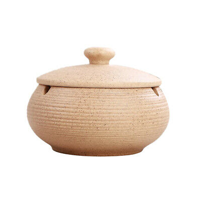 Ceramic Ashtray With Lid & Water Tank Windproof Ash Holder For Smoker • 9.63£