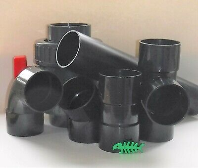 3 INCH, 3  = 82 Mm  Black Solvent Weld BOTH ENDS Pipe FITTINGS And PIPE, Pond • 7.99£