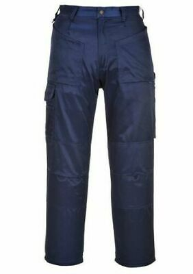 £8.95 • Buy Portwest Ohio Buildtex Navy Trousers Workwear T152 Cargo Pants
