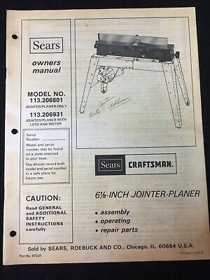 craftsman jointer planer