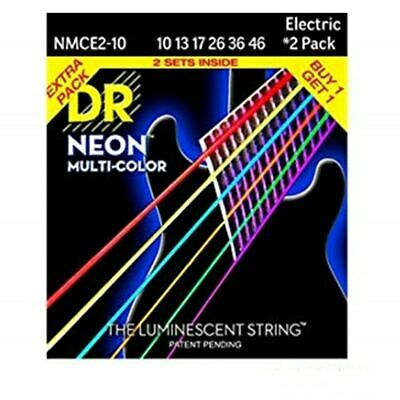$ CDN37.83 • Buy DR Strings NMCE2-10 Neon Multi-Color Medium Electric Guitar Strings 10-46 2 Sets