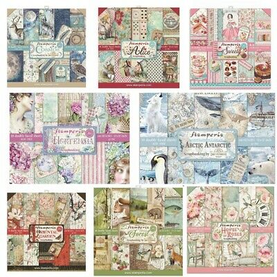 Stamperia 12 X 12 Double Sided Paper Pads - 45 + Designs To Choose - Free UK P&P • 12.95£