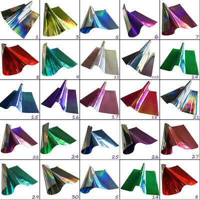 Holographic Or TwoTone Smooth Plastic Rainbow Film Hair Bows Craft Code # 201 • 2.77£
