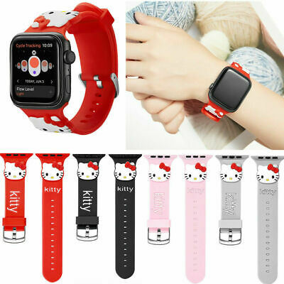 $ CDN10.11 • Buy Cute Hell Kitty Silicone Sport Band For Apple Watch Series 5 4 3 2 1 Wrist Strap
