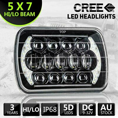 AU52.24 • Buy Hilux Led Upgraded Headlights 5x7inch Headlight Replacement H4 Hi/lo Beam 1pc