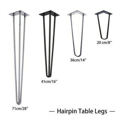 £16.99 • Buy 4x Hairpin Table Legs 10 & 12mm Steel 8  14  16  28  Furniture Table Desk Bench