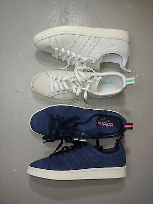 $ CDN99.99 • Buy Adidas Campus Originals Sz 8.5 Blue Pink White Mint Skate Shoes Leather Lot Of 2