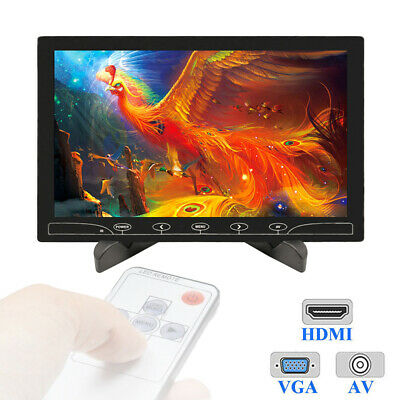 1024*600 Mini 10  Inch LCD Monitor HD Screen Display AV/RCA VGA BNC HDMI Input • 63.99£