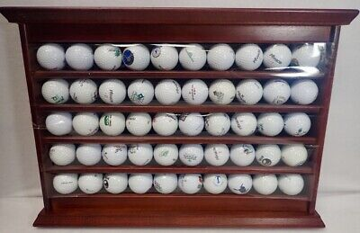 Wood Display Rack & Unique Golf Ball Collection Of Courses Played Many Michigan • 68.74£