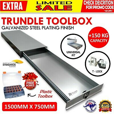AU610.99 • Buy Under Tray Tool Box Trundle Drawer 1500 Mm UTE Drawer Dual Extra Cab Toolbox