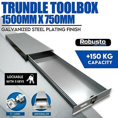AU695 • Buy Under Tray Tool Box Trundle Drawer 1500 Mm UTE Drawer Dual Extra Cab Toolbox