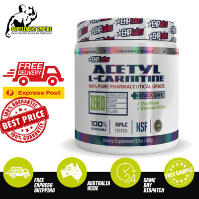 AU28.10 • Buy Ehp Labs Acetyl L Carnitine 100g Unflavoured Weight Loss Fat Burner Ehp Labs Alc