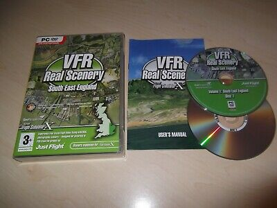Vfr Real Scenery Vol 1 South East England Flight Simulator X Fsx Add-on Complete • 4.49£