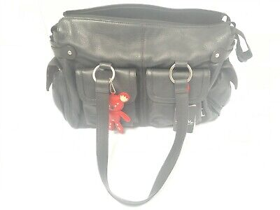 Il Tutto Black Leather After Baby Bag + Accessories RRP £249 • 69.99£
