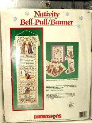 DIMENSIONS NATIVITY BELL PULL / BANNER  Jesus Counted Cross Stitch Kit 8406  • 9.61£