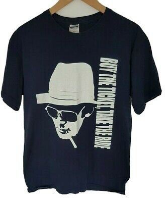 $25.40 • Buy Buy The Ticket Take The Ride Hunter S Thompson Documentary T Shirt Medium M Blue